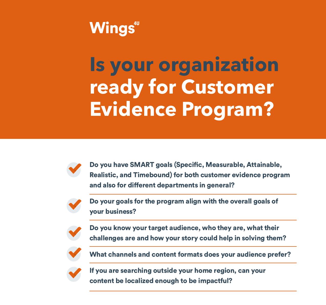 Customer evidence checklist mini2