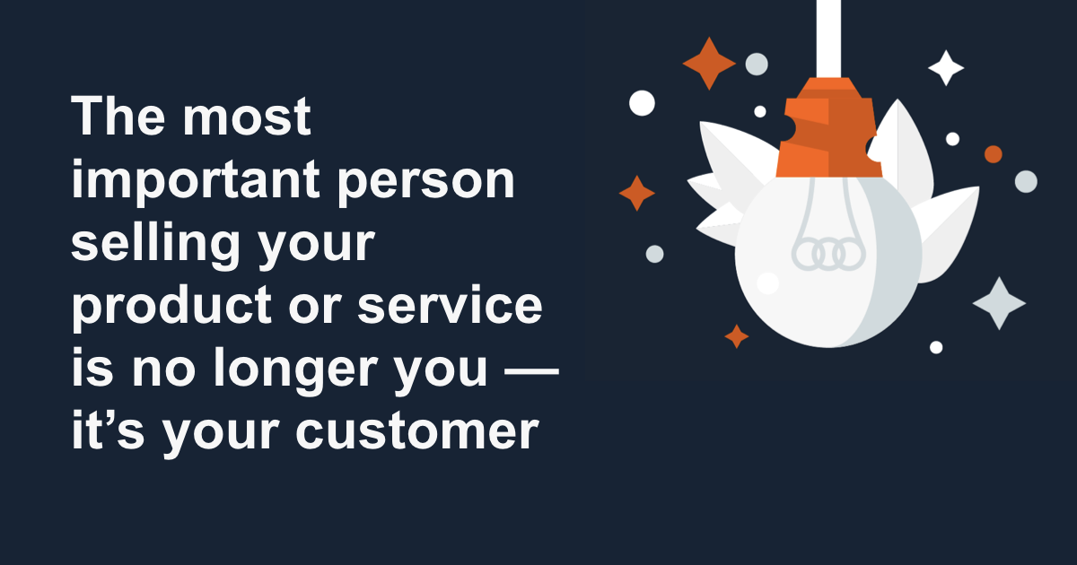 The most important sales person is your customer